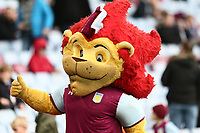 Aston Villa's mascot Hercules the Lion<br /> <br /> Photographer Leila Coker/CameraSport<br /> <br /> The EFL Sky Bet Championship - Aston Villa v Wolverhampton Wanderers - Saturday 10th March 2018 - Villa Park - Birmingham<br /> <br /> World Copyright &copy; 2018 CameraSport. All rights reserved. 43 Linden Ave. Countesthorpe. Leicester. England. LE8 5PG - Tel: +44 (0) 116 277 4147 - admin@camerasport.com - www.camerasport.com