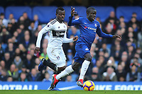 N'Golo Kante of Chelsea in action during Chelsea vs Fulham, Premier League Football at Stamford Bridge on 2nd December 2018