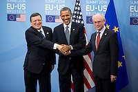 Barack Obama at the European Council in Brussels - Belgium