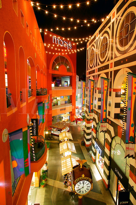 Horton Plaza shopping mall, downtown San Diego, California.