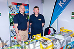 Brendan Kennelly and Sean O'Keeffe on the Kerrys Eye stand at the Kerry Expo in the INEC on Sunday