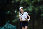 Luiza Altmann of Brazil tees off during the first round of the EFG Hong Kong Ladies Open at the Hong Kong Golf Club Old Course on May 11, 2018 in Hong Kong. Photo by Marcio Rodrigo Machado / Power Sport Images