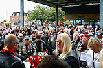 WOOLWICH, LONDON ENGLAND, 22 May ,2014.  Bikers gather to mark the first anniversary of the murder of Fusilier Lee Rigby near his Woolwich barracks.