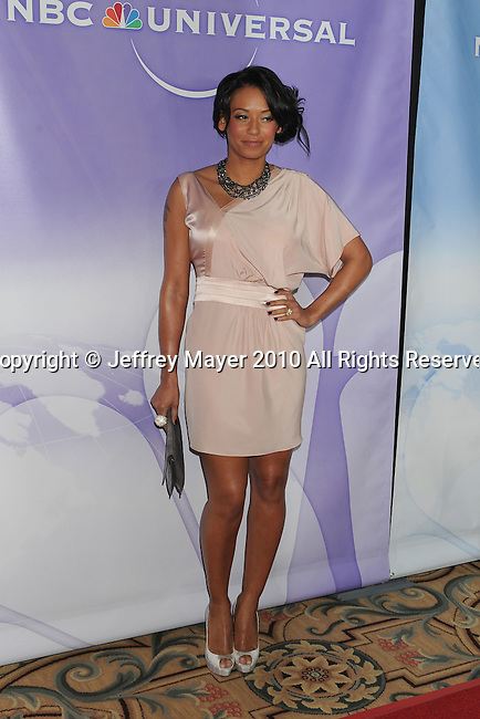 "PASADENA, CA. - January 10: Melanie ""Mel B"" Brown   arrives at NBC Universal's Press Tour Cocktail Party at Langham Hotel on January 10, 2010 in Pasadena, California."