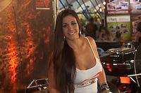 ATENCAƒO EDITOR FOTO, EMBARGADA PARA VEICULOS INTERNACIONAIS. - RIO DE JANEIRO, RJ, 15 DE SETEMBRO DE 2012 - RIO HARLEY DAYS 2012 - Promotora durante o segundo dia do Rio Harley Days 2012. Sucesso na Espanha, Franca, Alemanha e Croacia, o evento desembarca para sua segunda edicao no Brasil, na Marina da Gloria, zona sul do Rio de Janeiro, neste sabado, 15.  FOTO BRUNO TURANO BRAZIL PHOTO PRESS