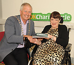Mayor of KIllarney Cllr Brendan Cronin and Bridget O'Gorman, Kilcummin,  at the opening of the Irish Wheelchair Association new Community Centre at The Reeks Gateway, Killarney on Friday.   Picture: macmonagle.com
