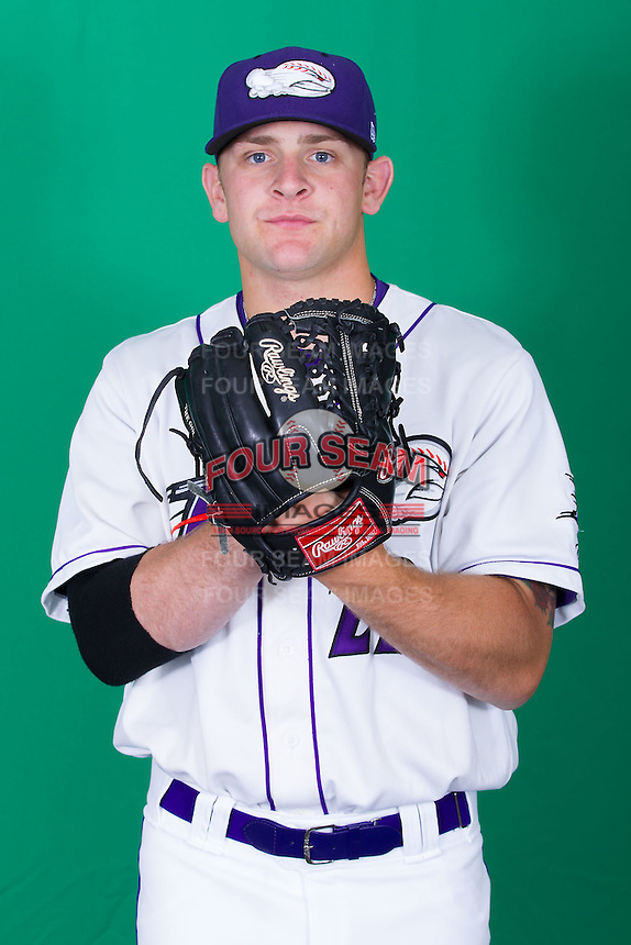 Winston-Salem Dash pitcher Mike Recchia (22) poses for photos during Media Day at BB&T Ballpark on April 1, 2014 in Winston-Salem, North Carolina (Brian Westerholt/Four Seam Images)