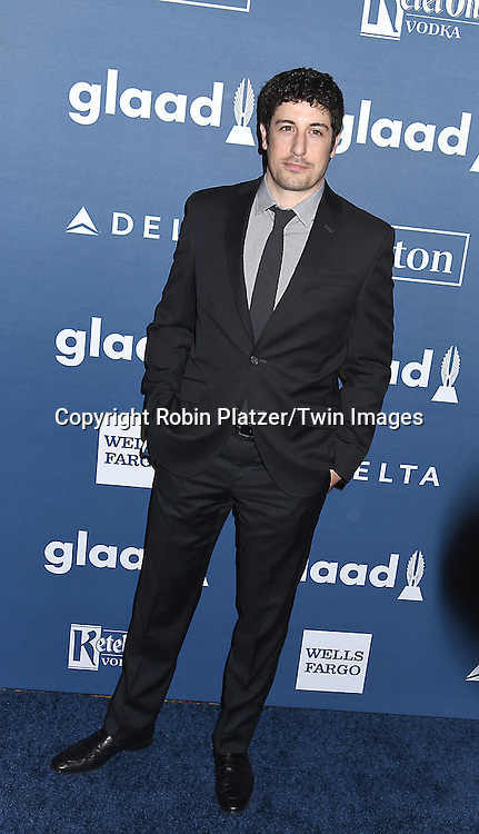 Jason Biggs  attend the 27th Annual GLAAD Media Awards on May 14, 2016 at the Waldorf Astoria Hotel in New York City, New York, USA.<br /> <br /> photo by Robin Platzer/Twin Images<br />  <br /> phone number 212-935-0770