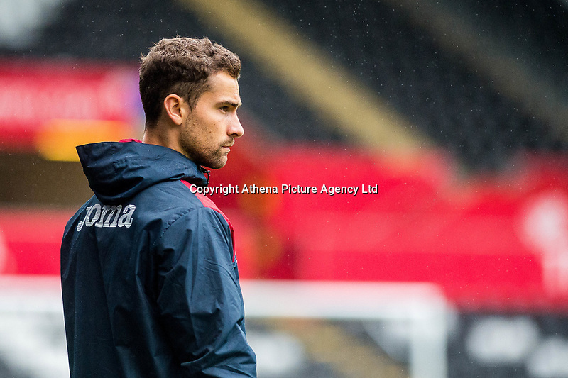 Sports scientist, Jordan Smith during the Swansea City Training Session at The Liberty Stadium, Swansea, Wales, UK. 02 August 2017