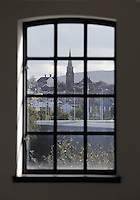 WORDS BY KARL WEST<br /> Pictured: The area of St Thomas as seen through the window of a newly re-developed space by Coastal Friday 30 September 2016<br /> Re: The regeneration of the High Street in Swansea, Wales, UK