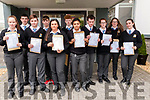 North Kerry College, Listowel students who received their Junioir Cert results on Friday morning last Front: Nadine Moloney, Darragh Moloney, Christina Falvey, Rhianna Cameron, Donal Kelly, Ella Gleasure & Rose Warwick. Back: Dylan Lynch, Aaron Broderick, John McCarthy & Nicole Moloney.