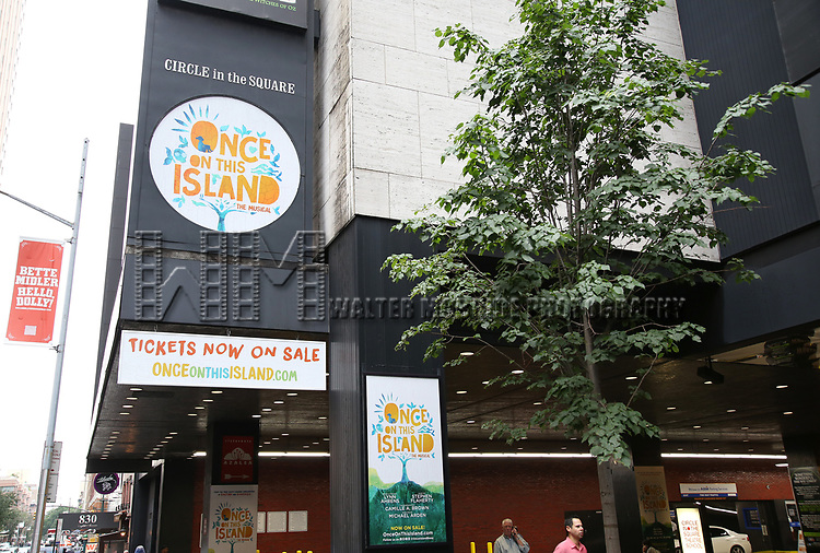 Theatre Marquee unveiling for 'Once on this Island' at Circle in the Square Theatre on July 14, 2017 New York City.
