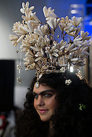 CAPE TOWN, SOUTH AFRICA JULY 30: A models walking for the designer Stefania Morland waits backstage before a show on July 30 2015 at the V&A Watershed in Cape Town, South Africa. Stefania Morland is one of South Africa's most established designers and she showed at the yearly Mercedes Benz Cape Town Fashion Week where some of South Africa's finest designers showed their Spring/Summer 2016 collections, during the 3-day event. (Photo by Per-Anders Pettersson)