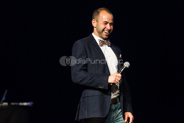"""LAS VEGAS, NV - October 4:  James """"Murr"""" Murray pictured at The truTV Impractical Jokers Tour featuring The Tenderloins at The Joint at Hard Rock Hotel & Casino in Las Vegas, NV on October 4, 2014. Credit: RTNEKP/MediaPunch ***HOUSE COVERAGE***"""
