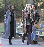 NEW YORK, NY November 07:Director Gary Ross, Sandra Bullock, Cate Blanchett, Rihanna, shooting on location for Ocean 8 in Central Park New York .November 07, 2016. Credit:RW/MediaPunch