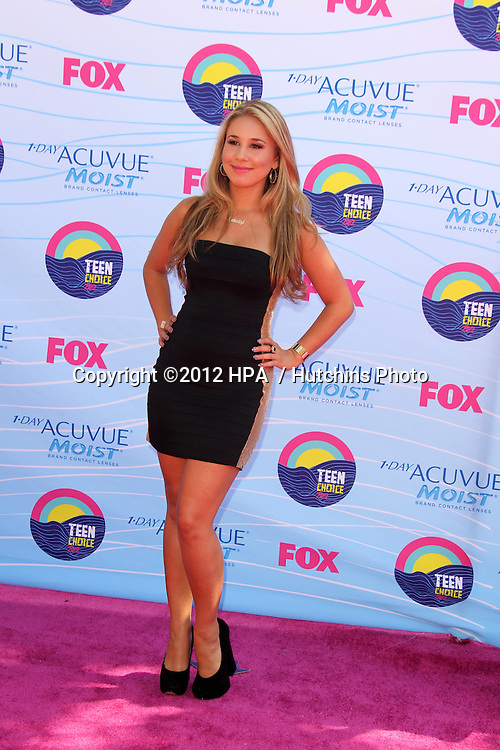 LOS ANGELES - JUL 22:  Haley Reinhart. arriving at the 2012 Teen Choice Awards at Gibson Ampitheatre on July 22, 2012 in Los Angeles, CA