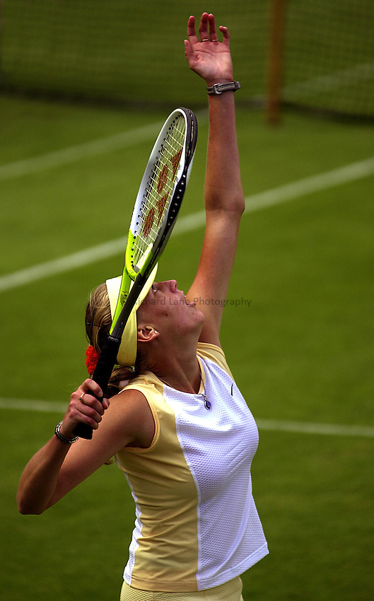 Photo: Richard Lane..DFS Classic Women's International Tennis at Edgebaston. 10/06/2003..Daja Bedanova.
