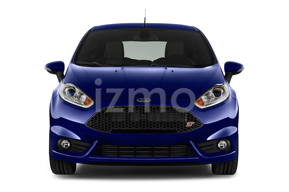 Car photography straight front view of a 2014 Ford FIESTA ST MT 2WD 3 Door Hatchback 2WD Front View