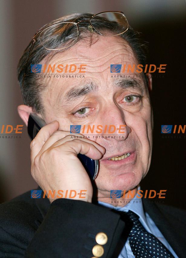 Roma 24 01 2006 Convegno di Forza Italia sul tema della Giustizia<br /> Nella Foto Carlo Taormina<br /> Photo Serena Cremaschi Insidefoto