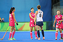 Japan Women's team group (JPN), <br /> AUGUST 11, 2016 - Hockey : <br /> Women's Pool Match <br /> between Japan Women's 0-2 Great Britain Women's <br /> at Olympic Hockey Centre <br /> during the Rio 2016 Olympic Games in Rio de Janeiro, Brazil. <br /> (Photo by YUTAKA/AFLO SPORT)