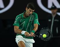 28th January 2020; Melbourne Park, Melbourne, Victoria, Australia; Australian Open Tennis, Day 9; Novak Djokovic of Serbia during his match against  Milos Raonic of Canada