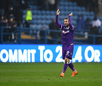 Bolton Wanderers' Adam Le Fondre applauds the fans at the final whistle<br /> <br /> Photographer Chris Vaughan/CameraSport<br /> <br /> The EFL Sky Bet Championship - Sheffield Wednesday v Bolton Wanderers - Saturday 10th March 2018 - Hillsborough - Sheffield<br /> <br /> World Copyright &copy; 2018 CameraSport. All rights reserved. 43 Linden Ave. Countesthorpe. Leicester. England. LE8 5PG - Tel: +44 (0) 116 277 4147 - admin@camerasport.com - www.camerasport.com