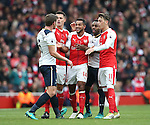 Arsenal's Theo Walcott argues with Tottenham's Jan Vertonghen during the Premier League match at the Emirates Stadium, London. Picture date November 6th, 2016 Pic David Klein/Sportimage
