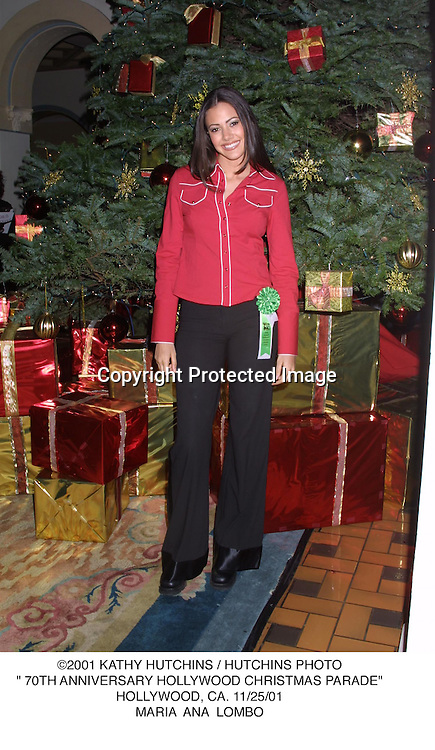 "©2001 KATHY HUTCHINS / HUTCHINS PHOTO."" 70TH ANNIVERSARY HOLLYWOOD CHRISTMAS PARADE"".HOLLYWOOD, CA. 11/25/01.MARIA  ANA  LOMBO"