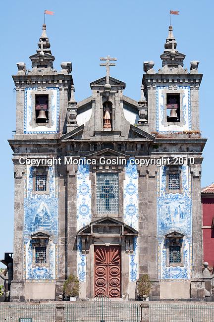 Santo Ildegonson Church in Porto Portugal.