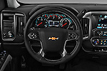 Car pictures of steering wheel view of a 2016 Chevrolet Silverado-1500 LT-Double-Cab-Std-Box 4 Door Pick-up Steering Wheel