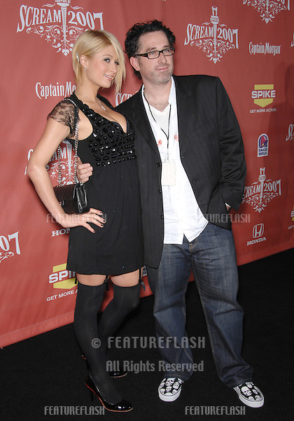 "Paris Hilton & Darren Lynn Bousman at Spike TV's ""Scream 2007"" Awards honoring the best in horror, sci-fi, fantasy & comic genres, at the Greak Theatre, Hollywood..October 20, 2007  Los Angeles, CA.Picture: Paul Smith / Featureflash"