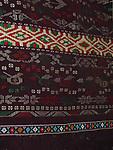 ANTIQUE BEADED BATAK ULOS WITH HUMAN FIGURES, CEREMONIAL SHOULDER CLOTH