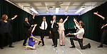 Duke Lafoon, Tom Galantich and Kerry Butler with the cast during the 'Clinton The Musical' - Sneak Peek at Ripley Grier Studios on March 4, 2015 in New York City.