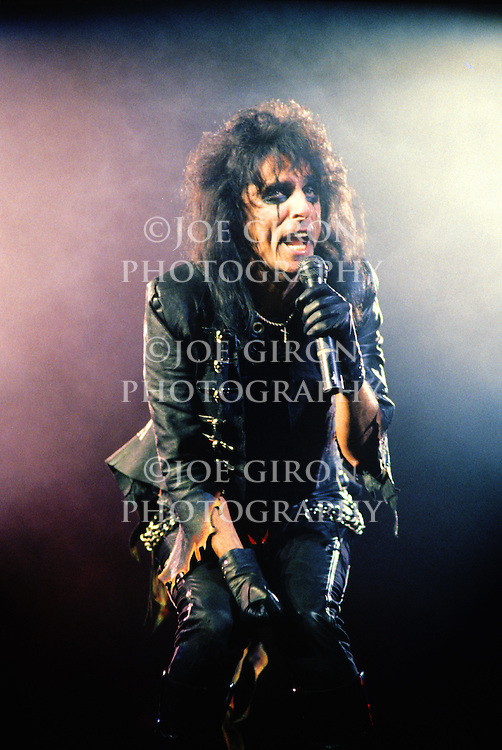 Various portraits & live photographs of shock rocker, Alice Cooper.
