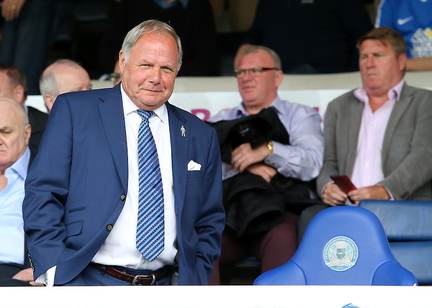 Peterborough United chairman Barry Fry looks on before kick off<br /> <br /> Photographer David Shipman/CameraSport<br /> <br /> The EFL Sky Bet League One - Peterborough v Swindon Town - Saturday 3 September 2016 -  ABAX Stadium - Peterborough<br /> <br /> World Copyright &copy; 2016 CameraSport. All rights reserved. 43 Linden Ave. Countesthorpe. Leicester. England. LE8 5PG - Tel: +44 (0) 116 277 4147 - admin@camerasport.com - www.camerasport.com