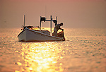 Edward Harrison uses a hand scrape to catch soft crabs near Smith Island, MD, in Chesapeake Bay
