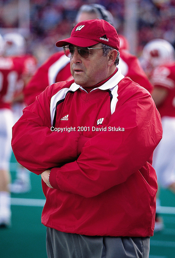University of Wisconsin head coach Barry Alvarez during the Indiana game at Camp Randall Stadium, Madison, WI. Indiana beat Wisconsin 63-32. (Photo by David Stluka)
