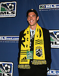 12 January 2007: Greg Dalby was taken with the second pick of the second round (15th overall) by the Columbus Crew.  The 2007 MLS SuperDraft was held in the Indianapolis Convention Center in Indianapolis, Indiana during the National Soccer Coaches Association of America's annual convention.