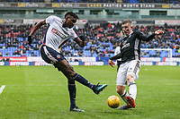 Bolton Wanderers' Sammy Ameobi tries to put a cross in under pressure from Fulham's Matt Targett<br />