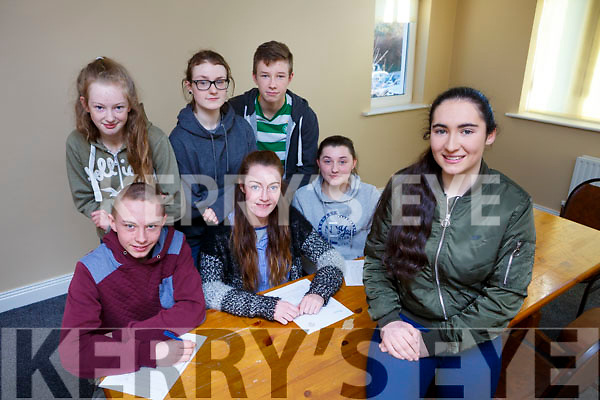 Elaine Nagle Chairperson of Rathmore Social Action group with her committee members, Joshua O'Sullivan, Juliette Culloty, Myra O'Sullivan. Back row: Sarah O'Connor, Melanie Redic and Cian Sheehan