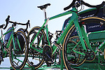 Caja Rural-Seguros RGA De Rosa bikes on the team car before Stage 1 of the La Vuelta 2018, an individual time trial of 8km running around Malaga city centre, Spain. 25th August 2018.<br /> Picture: Eoin Clarke | Cyclefile<br /> <br /> <br /> All photos usage must carry mandatory copyright credit (© Cyclefile | Eoin Clarke)