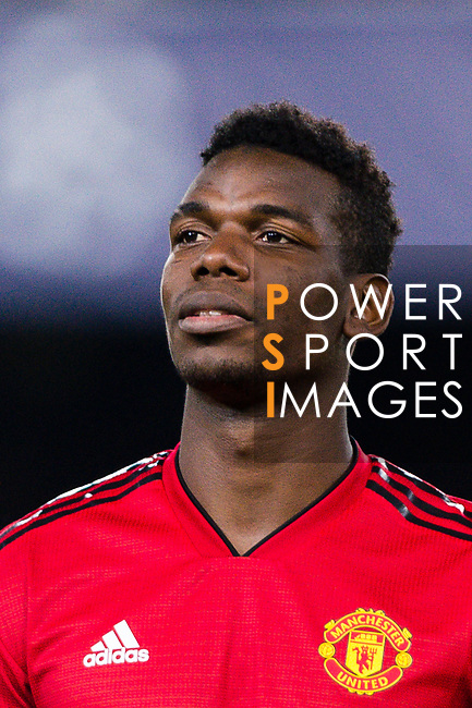 Paul Pogba of Manchester United getting into the field during the UEFA Champions League 2018-19 match between Valencia CF and Manchester United at Estadio de Mestalla on December 12 2018 in Valencia, Spain. Photo by Maria Jose Segovia Carmona / Power Sport Images