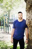 Philadelphia, PA, May 8, 2016 - A portrait of Philadelphia Eagles Oustside Linebacker, Connor Barwin at Smith Park in South Philadelphia. Barwin's Make the World Better Foundation is revitalizing the park.