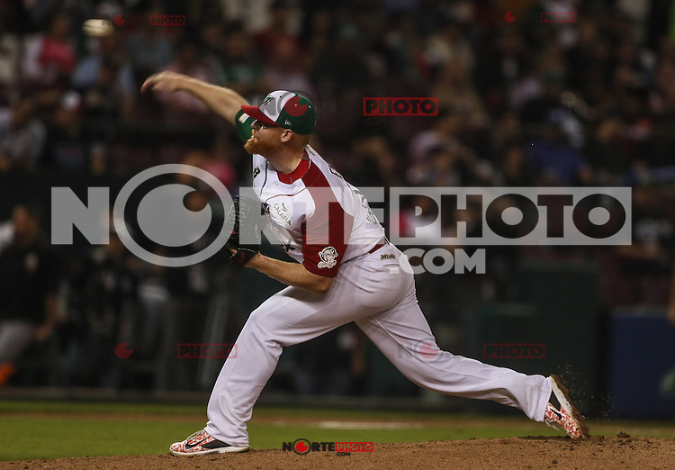 Barry Enrigth pitcher abridor de Mexico, durante el partido de beisbol de la Serie del Caribe entre Mexico vs Venezuela en el Nuevo Estadio de los Tomateros en Culiacan, Mexico, Viernes 3 Feb 2017. Foto: Luis Gutierrez/NortePhoto.com.<br /> <br /> <br /> Actions during the baseball game of the Caribbean Series between Mexico vs Venezuela at the New Tomateros Stadium in Culiacan, Mexico, Friday 3 Feb 2017. Photo: Luis Gutierrez / NortePhoto.com.