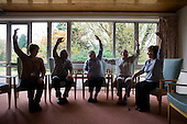 Tai Chi session organised by Gloucester Rural Community Council Village Agents at Western Way sheltered housing scheme in Dymock.