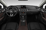 Stock photo of straight dashboard view of 2018 Mazda Mazda3 Grand-Touring 5 Door Hatchback Dashboard