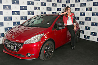 Spanish of sports presenter Lara Alvarez, current girlfriend of the Formula 1 driver Fernando Alonso, during the presentation of new Peugeot 208 GTI at Jarama Circuit in Madrid, Spain. January 20 2015. (ALTER PHOTOS/Carlos Dafonte) /NortePhoto<br />