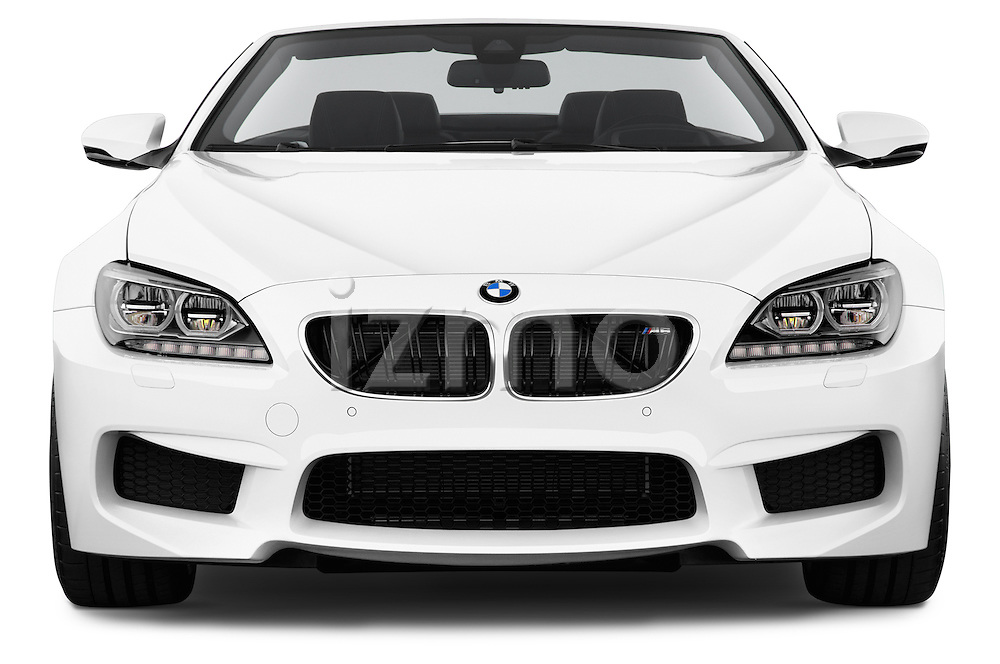 Straight front view of a 2014 BMW M6 Convertible