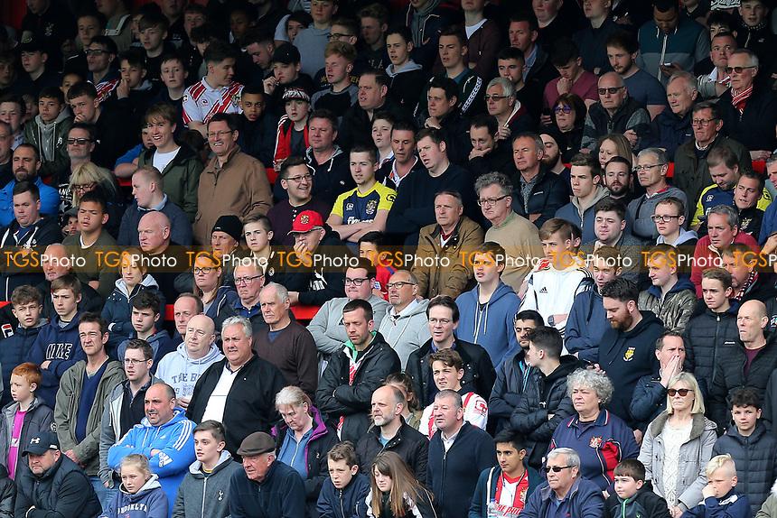Stevenage fans during Stevenage vs Morecambe, Sky Bet EFL League 2 Football at the Lamex Stadium on 14th April 2017