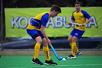 Action from the 2018 men's National Hockey League match between Harbour and Southern at National Hockey Stadium in Wellington, New Zealand on Monday, 17 September 2018. Photo: Dave Lintott / lintottphoto.co.nz